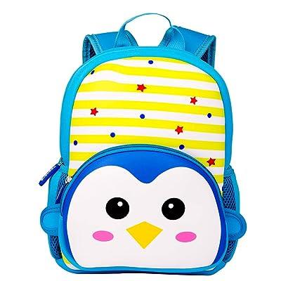 Yeelan Mochila Impermeable para niños Mochila para niños Mochila para niños Mochila Escolar para Preescolar jardín de Infantes Viajes etc. (Pingüino, Neopreno): Equipaje
