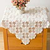 FADFAY Home Textile,Designer Lace Table Cloth Set,Modern European Rustic Vintage Floral Wedding Tablecloth,Delicate Hollow Out Table Linen