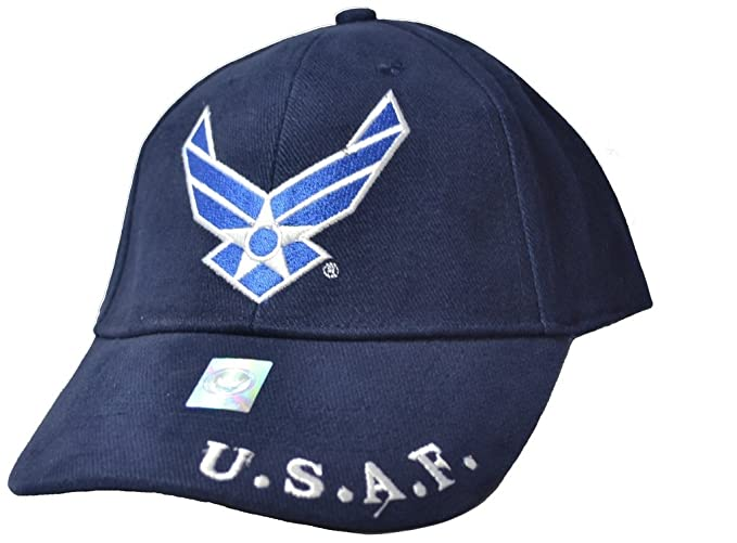82ce422f245 Image Unavailable. Image not available for. Color  Eagle Emblems Mens US  Air Force Logo Embroidered Ball Cap Adjustable Blue