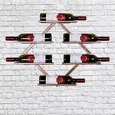 Estantería de vino Estante del vino Estante del vino Hierro forjado colgar de la pared estante del vino vino de la pared del hogar de hierro forjado de estar pared del sitio de la plataforma encimera
