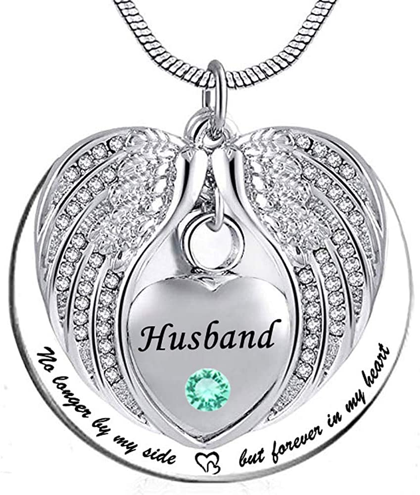 HQ Personalized Cremation Jewelry Urn Necklace for Ashes Keepsake Memorial Heart Pendant with Funnel Kit-Black