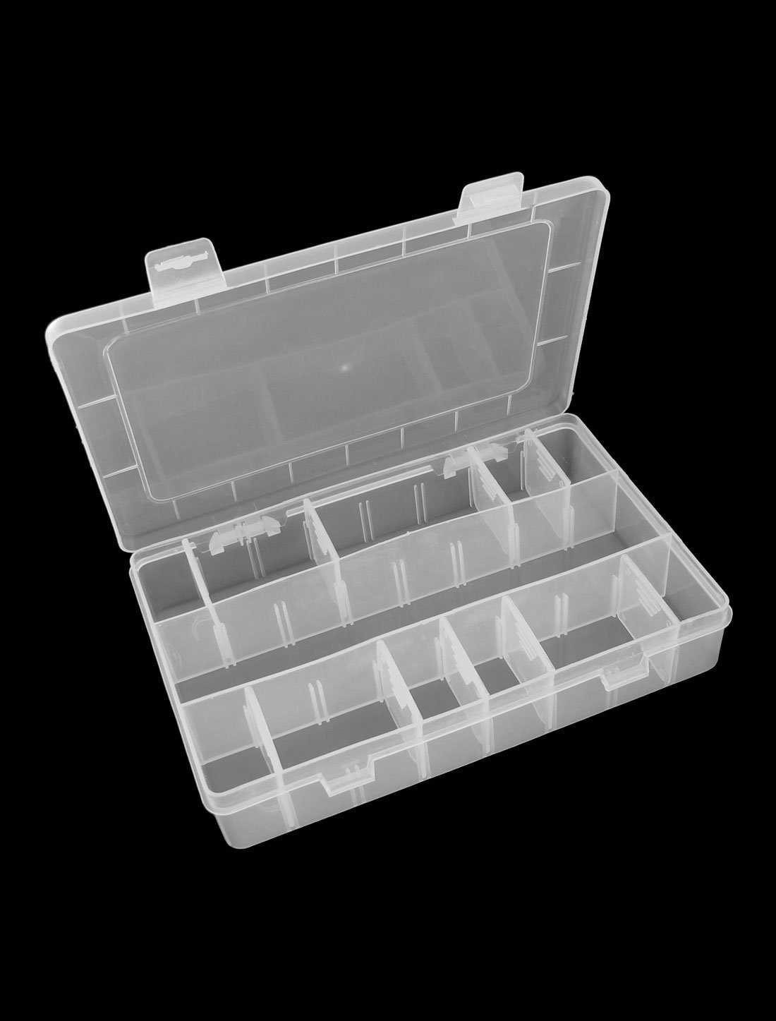 Amazon.com: eDealMax Tornillos Tuercas Forma de rectángulo de la chincheta de almacenamiento caja de caja transparente: Home & Kitchen