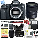 Canon EOS 6D Mark II 26.2MP Full-Frame DSLR Camera with Tamron SP 24-70mm f/2.8 Di VC USD G2 Lens for Mount Plus 64GB Accessories Bundle