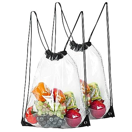 Amazon.com: Bolsa de cordón transparente impermeable con ...