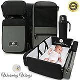 Multipurpose Portable Baby Changing Mat: Foldable travel bassinet, Playpen & Storage