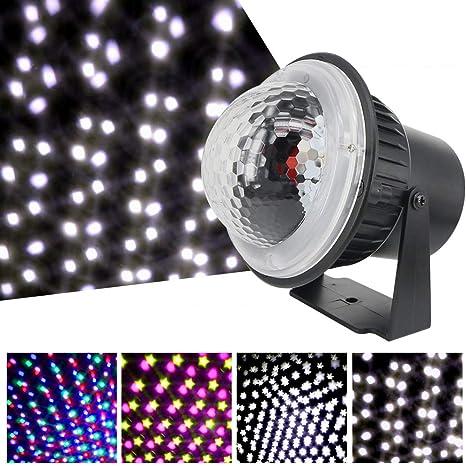 Lilideni AC85V-240V 5W LED Mini proyector Luz Leds Caída de Nieve ...
