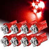 506 led bulb - 8x Red 6 LED T10 Interior Wedge Light Bulbs Replaces 194 147 152 158 159 161 168 184 192 193 259 280 285 447 464 555 558 585 655 656 657 1250 1251 1252 2450 2652 2921 2827