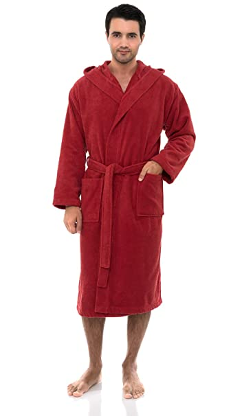 TowelSelections Men s Turkish Cotton Bathrobe Hooded Terry Robe Made ... c9d8c25f0
