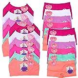 Uni Style Apparel Girls Seamless Spaghetti Strap Bras and Boyshorts Panties Set (Small, Princess-12set)