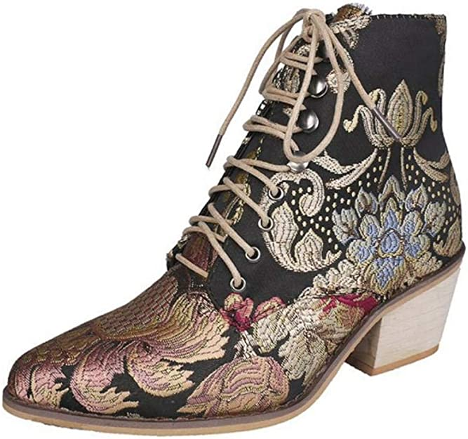 165 Vintage WOMEN/'S LEATHER ankle boots ............