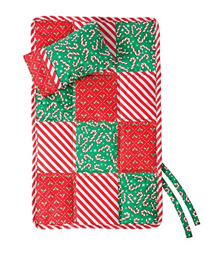 (Elf Magic Cozy Claus Quilt and Pillow Set - 10 Inch)