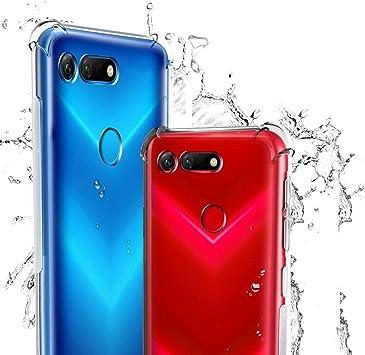 WUFONG Funda para Huawei Honor 8A Pro,Estuche para teléfono móvil,Caja del teléfono móvil Ultrafina Totalmente Transparente, Cubierta de airbag de Cuatro Esquinas Gruesa: Amazon.es: Electrónica