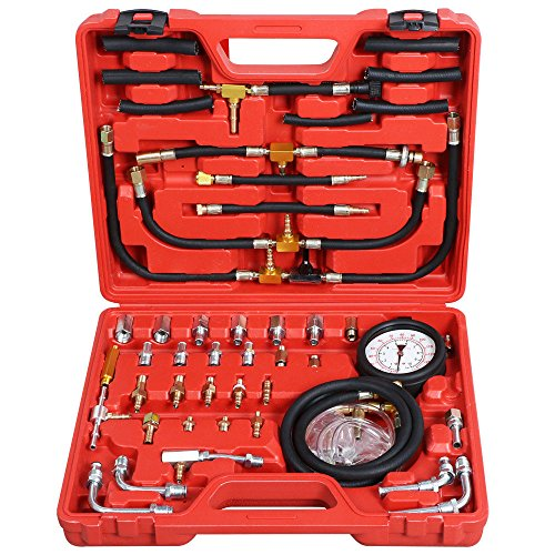 PMD Products Manometer Fuel Injection Pressure Tester Gauge Kit System w/Schrader Valve Fittings 0-140 psi by PMD Products (Image #1)