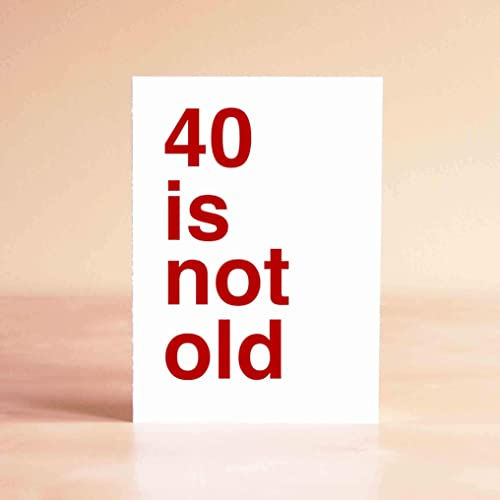 Image Unavailable Not Available For Color Funny 40th Birthday Card