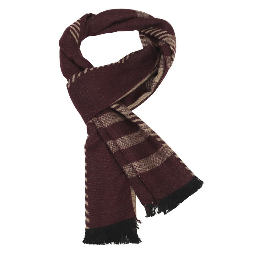 SK Studio Mens Business Lightweight Thick Shawl Wrap Scarves