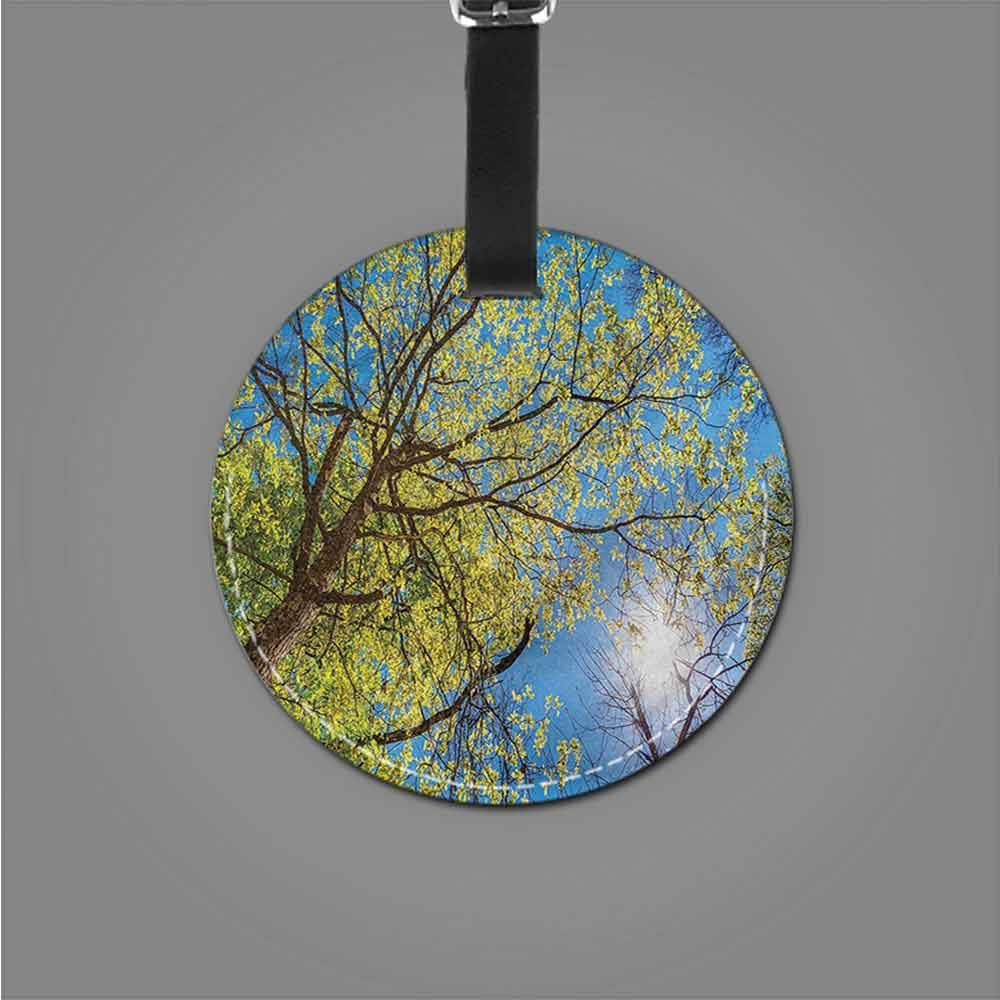 Favorite brand luggage tags Forest,Panorama Woodland Silhouette Cute Novelty