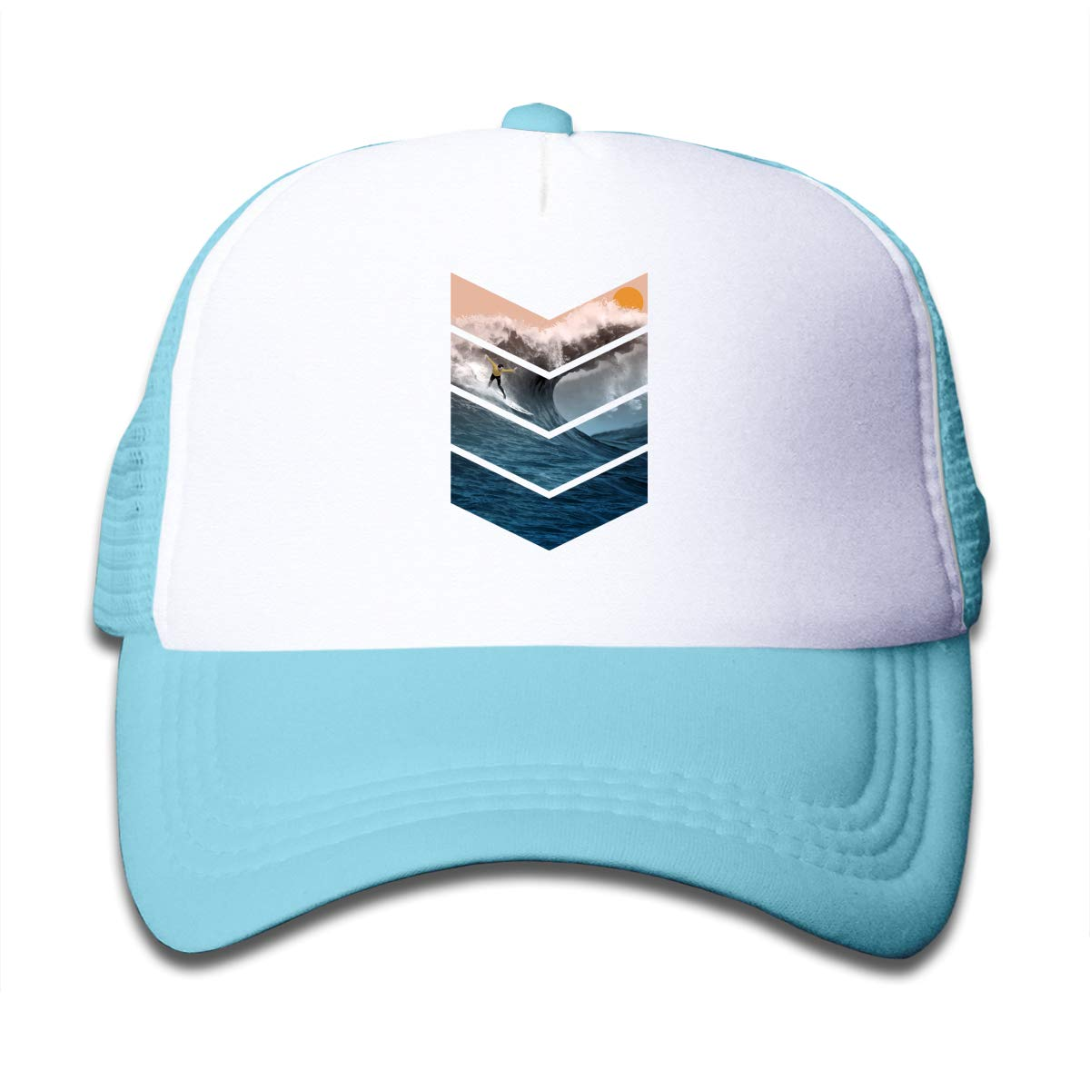 Waldeal Boys Sunrise Surfer Mesh Trucker Hat Kids Toddler Snapback Baseball Cap