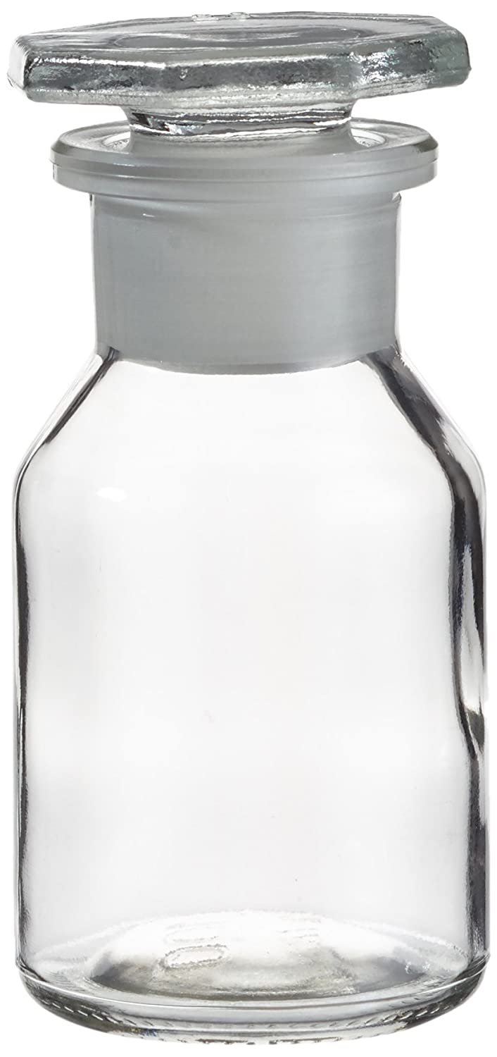 Neolab E 4016  Ecolab conical shoulder bottle, wide neck, NS 29  glass stopper No. 4016, 100  ml, transparent glass. NS 29 glass stopper No. 4016 100 ml E-4016