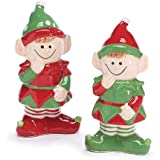 Pixie Elf Holiday Christmas Salt and Pepper Shaker Set