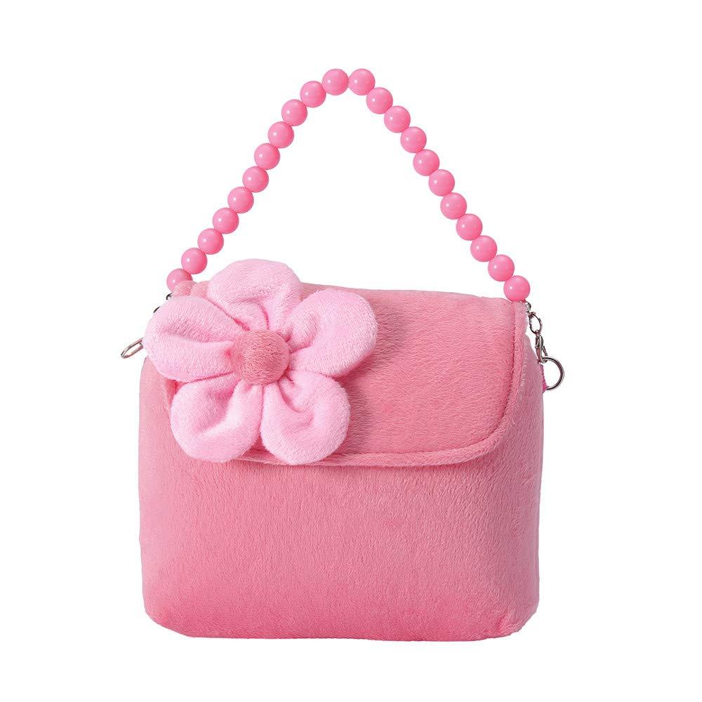 Nevera Kids Shoulder Bag Crossbody Purse Mini Preschool Messenger Handbag for Children Toddler Baby Girls (Pink)