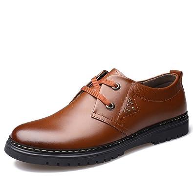 Baskets basses ville cuir marron homme confort Marron