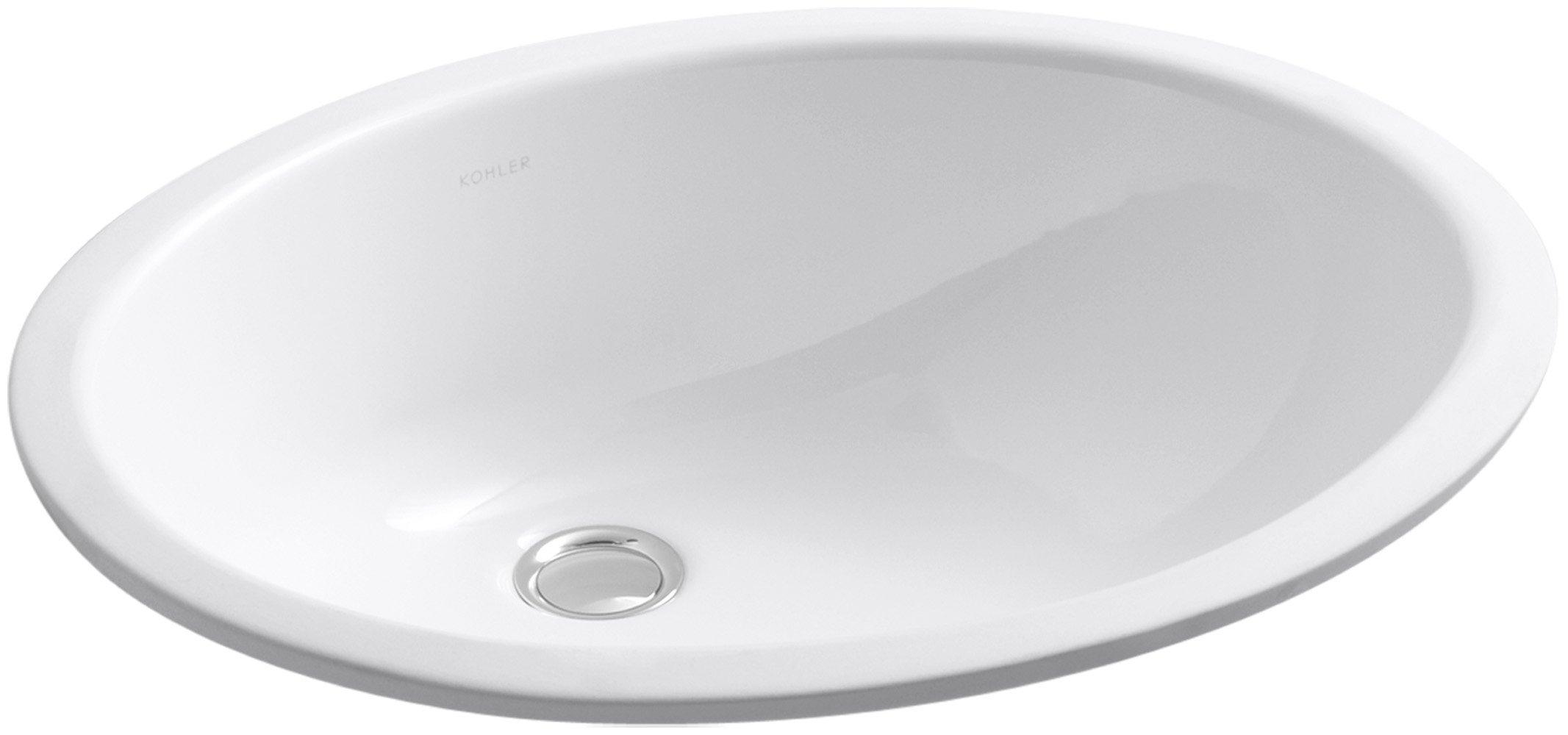 KOHLER K-2210-N-0 Caxton Bathroom Sink, White