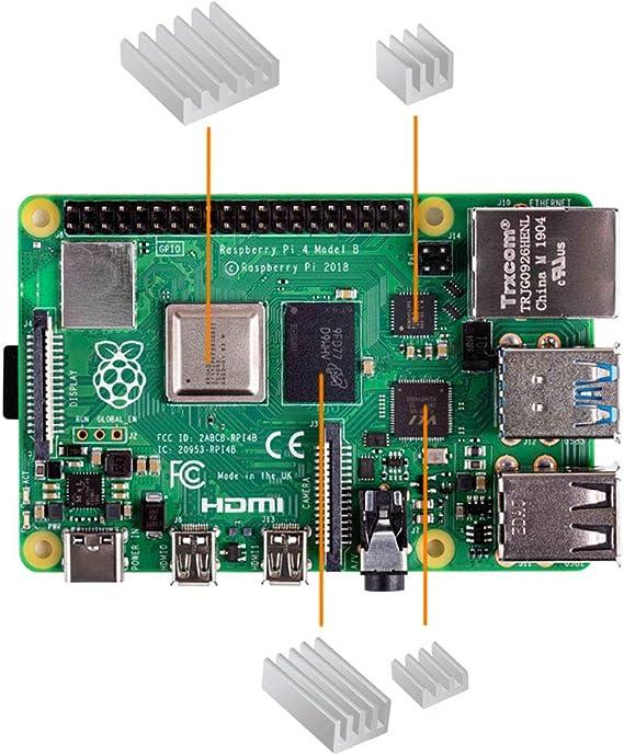 Carcasa para Raspberry Pi 4, iUniker Raspberry Pi Disipador de ...