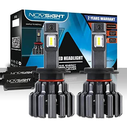 H7 Led Headlight Bulbs, Novsight 80W 12000LM Super Bright Headlamp Conversion Kit,with Automotive