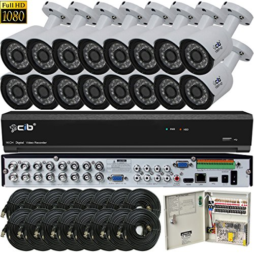 CIB Security H80P16K2T56W-16KIT 16CH 1080P Video Security DVR,