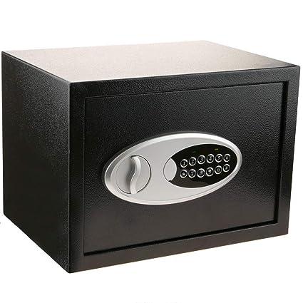 PrimeMatik - Caja Fuerte de Seguridad de Acero con código electrónico Digital 35x25x25cm Negra