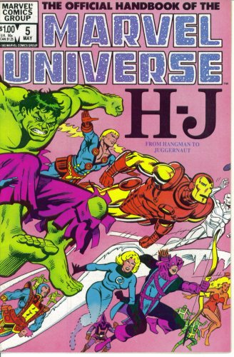 (The Official Handbook of the Marvel Universe #5 : From Hangman to Juggernaut (Marvel Comics))
