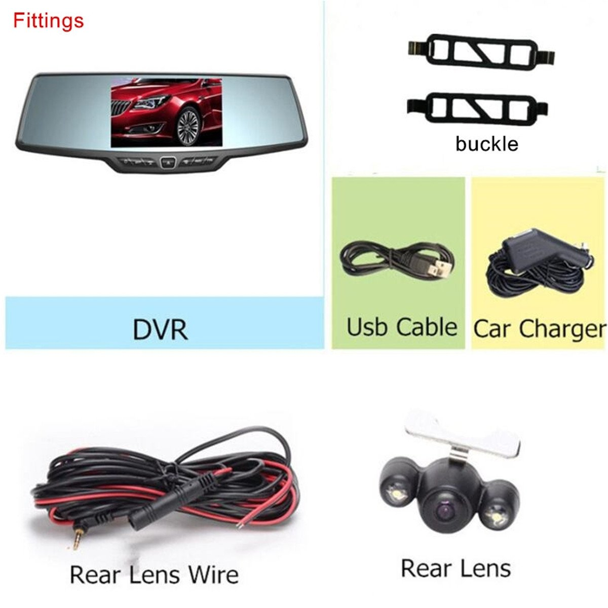 Dash Cam,4.3'' Full HD 1080P Rearview Mirror Dual Lens Video Recorder Car DVR 170 Degree Wide Angle, Loop Recording,G-Sensor,Parking Monitor,Reverse Image by Range Tour (Image #8)