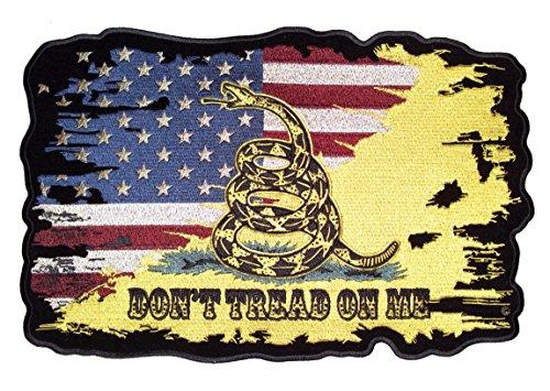 Leather Supreme Distressed American Flag Gadsden snake Cross