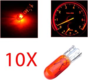 cciyu T5 37 74 286 Wedge Halogen LED Interior Light Bulbs Instrument Cluster Gauge Dash Lamp,10Pack