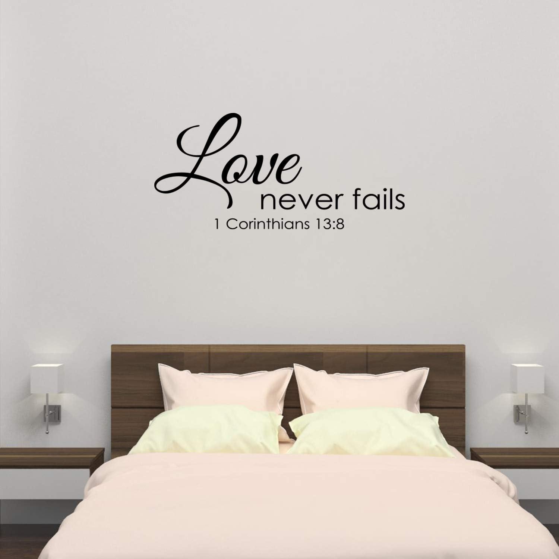 Wall Decal Love Never Fails 1 Corinthians 13:47 8 Vinyl Sticker GD867