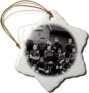 3dRose Early 1900s Edwardian Era Football Team Vintage - Ornaments (ORN_334904_1)