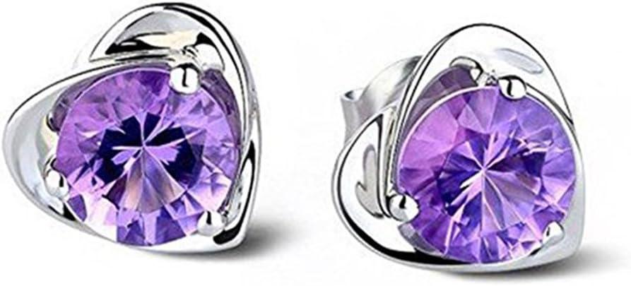 Outflower - 1 par de pendientes de perlas de oro rosa con circonitas y piedras brillantes para mujer