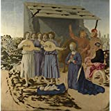 The high quality polyster Canvas of oil painting 'Piero della Francesca The Nativity ' ,size: 18 x 18 inch / 46 x 46 cm ,this Imitations Art DecorativePrints on Canvas is fit for Bar decor and Home decor and Gifts