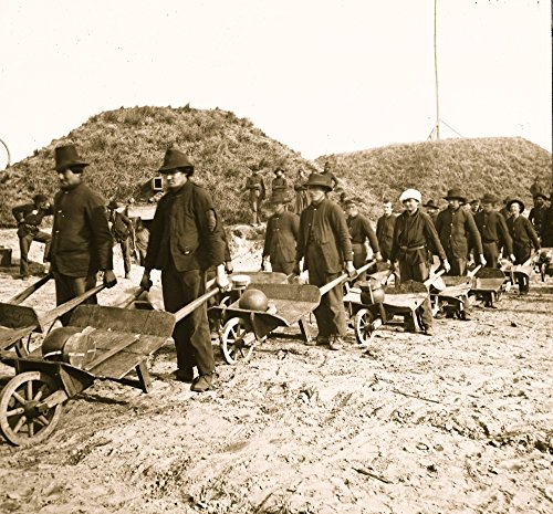 Posterazzi Poster Print Collection Savannah Ga. Vicinity. Sherman's Troops Removing Ammunition from Fort Mcallister in Wheelbarrows, (24 x 36), Multicolored