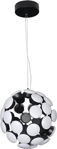 VONN VMC32620BL Globe Chandelier, 19.29 L x 19.29 W x 137.36 H, Black