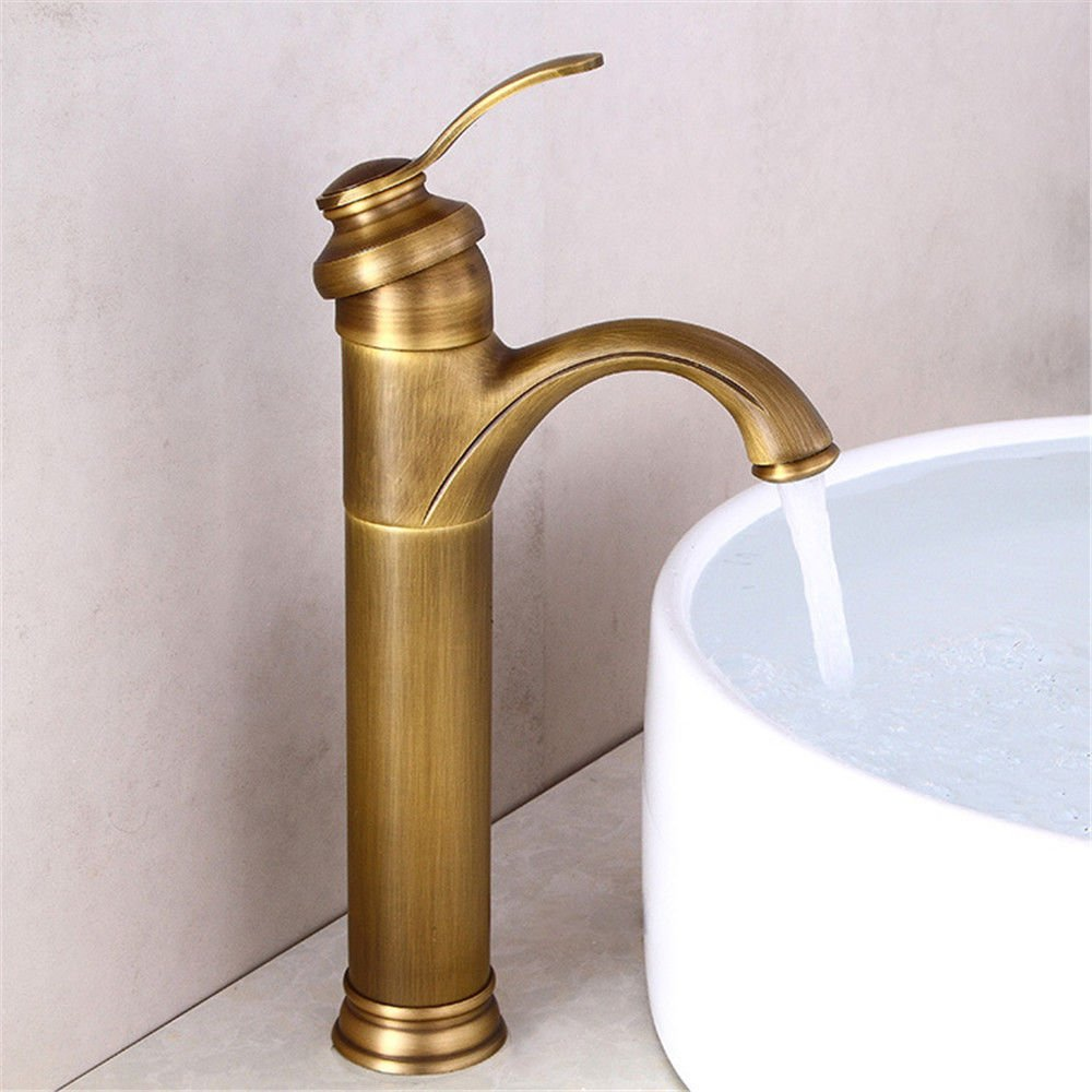 Modern simple copper hot and cold kitchen sink taps kitchen faucet Faucet antique gold faucet copper bathroom chrome faucet basin basin faucet Suitable for all bathroom kitchen sinks