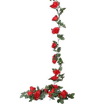 Neu Deko Efeu Künstliche Girlande Blumen Efeugirlande Efeuranke Kunstpflanze
