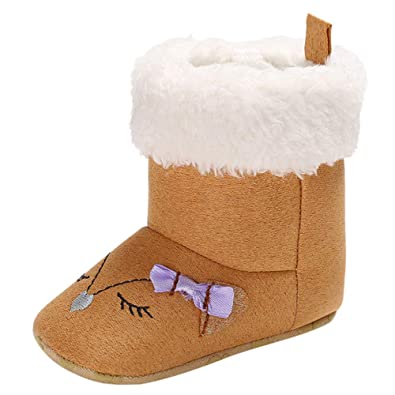 Newborn Baby Crib Boys Girls Soft Boots Cartoon Winter Boots Prewalker Warm  Shoes (0-6 Months 2be64a241