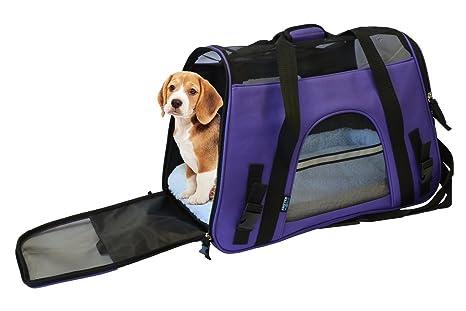 Lado suave Pet Carrier Bolsa de viaje para perros pequeños y gatos aerolínea aprobado | forro
