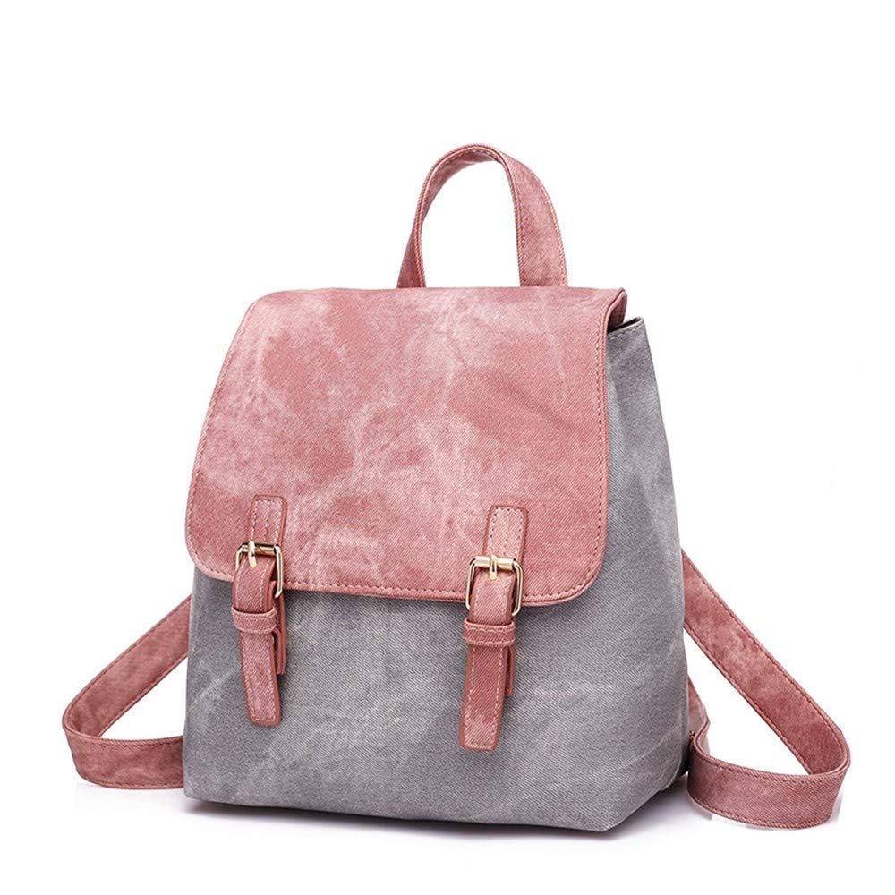 Backpack Women's Mixed Colors College Style Fashion Bag Shoulder Bag Packet Pink by OCEAN-STORE Bag