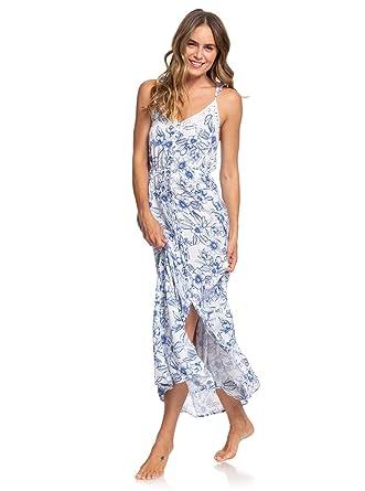 1abccbd317a Roxy Womens Hot Summer Lands - Strappy Button Through Maxi Dress - Women  Bright White Robbie