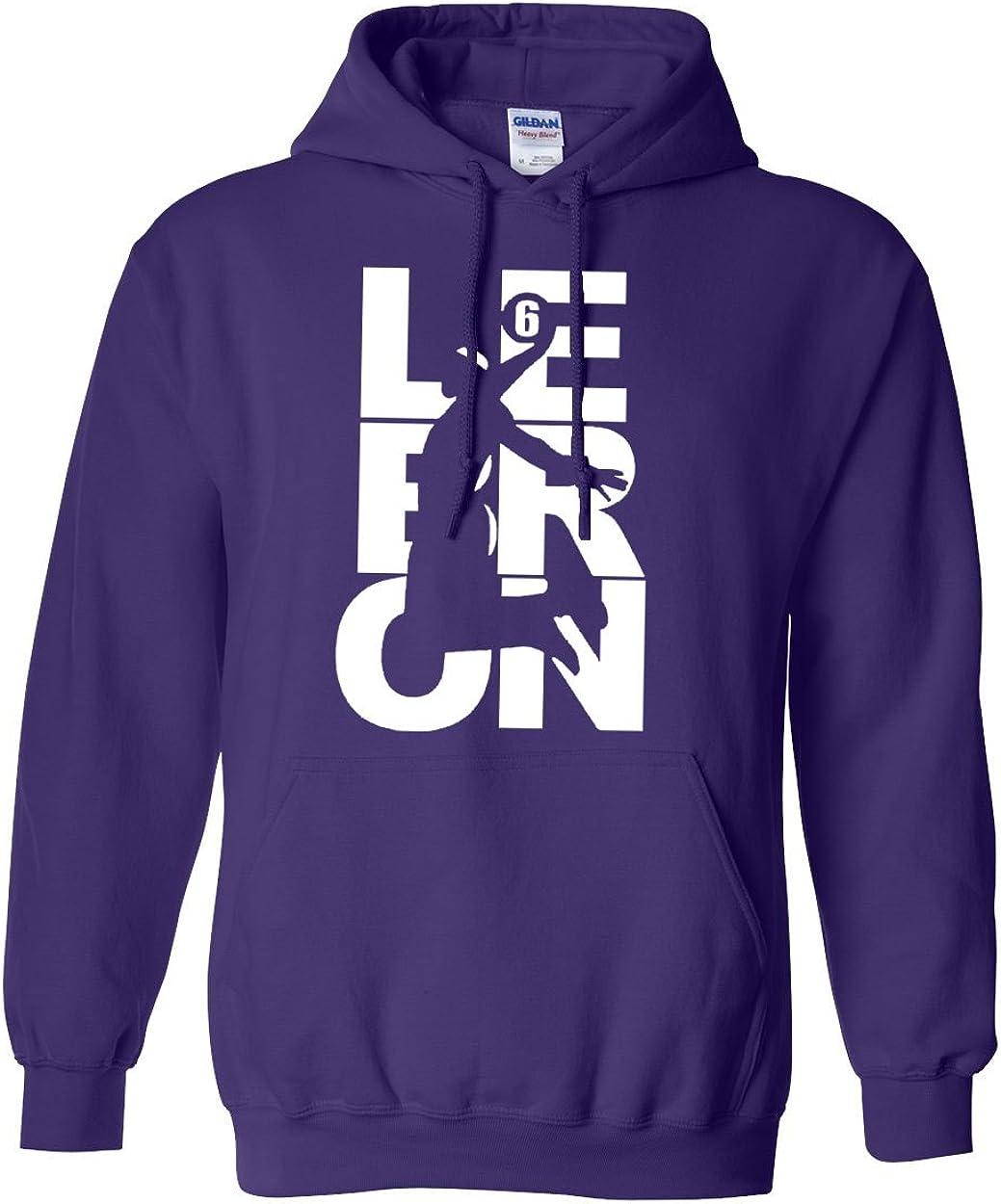 Lebron Fan Wear # 6 Vintage Hoodie Sports Sweatshirt