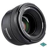YONGNUO YN50mm F1.8N Manual Focus Lens Standard Prime Lens Large Aperture FX DX for Nikon DSLR Cameras