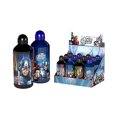 Avengers – Botella de aluminio de 500ml con tapón seguridad, 39900A: Juguetes y juegos