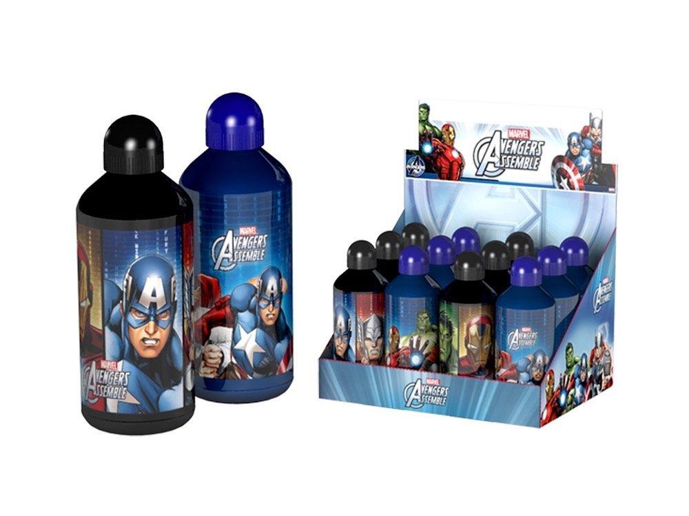 Avengers, Borraccia Alluminio 500 ml con tappo sicurezza, 39900 A NICKELODEON
